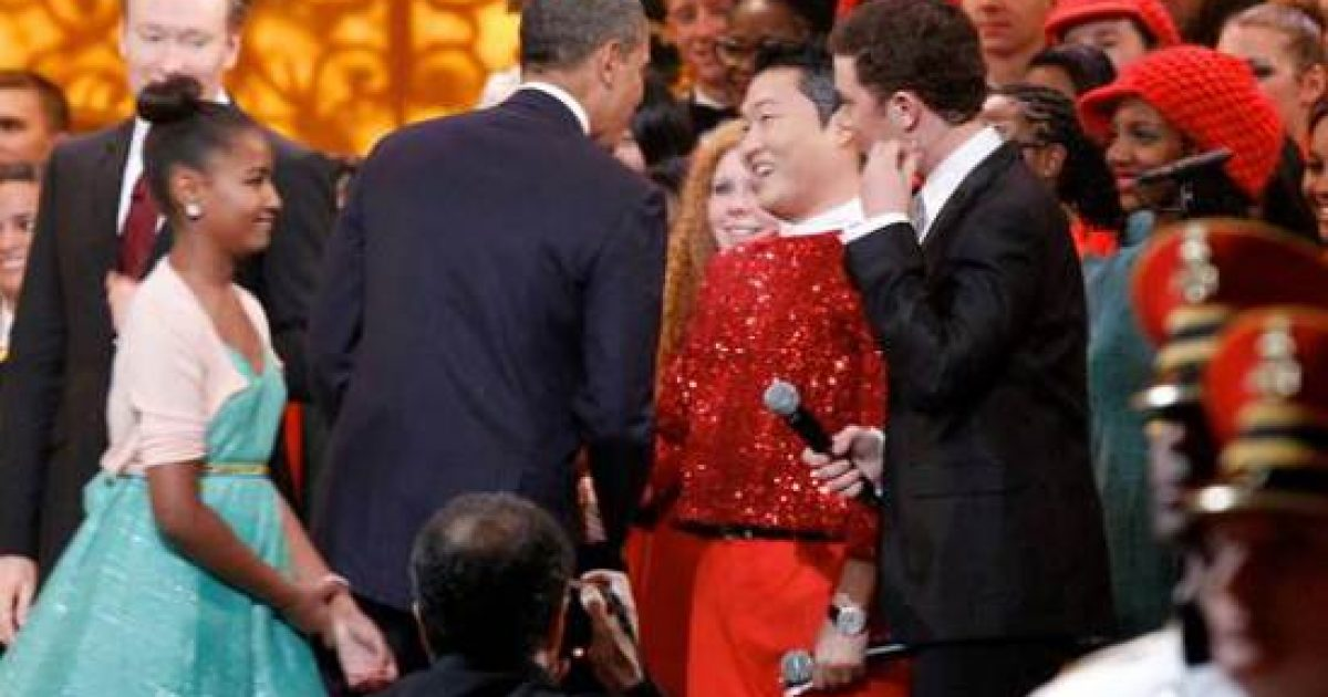 Dancing Clown Performs For Obama